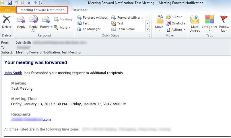 Meeting Forward Notification