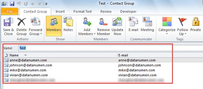 how to create a new contact group