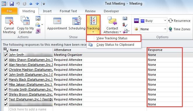 Track Meeting Responses