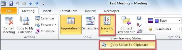 Copy Status to Clipboard