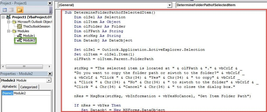 VBA Codes - Get the Full Folder Paths of the Search Results