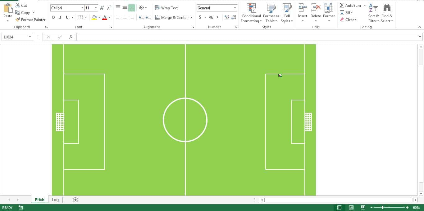 Create A Football Field On The Excel Sheet