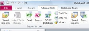 Import Your File Into Access