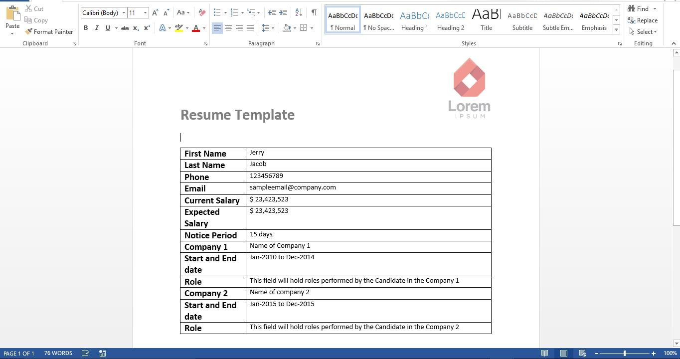 how to create your own resume reader with excel vba data recovery blog. Black Bedroom Furniture Sets. Home Design Ideas
