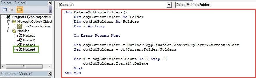 VBA Codes - Delete All Subfolders in One Go