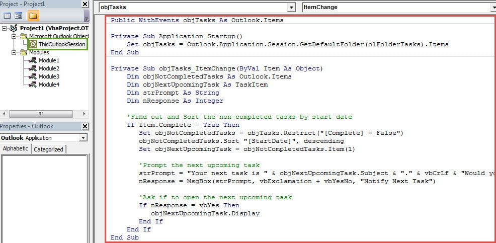 VBA Codes - Get a Notification of the Next Upcoming Task after Completing One