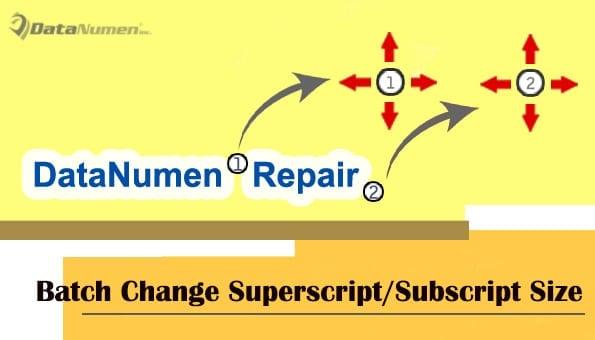 Batch Change Superscript or Subscript Size