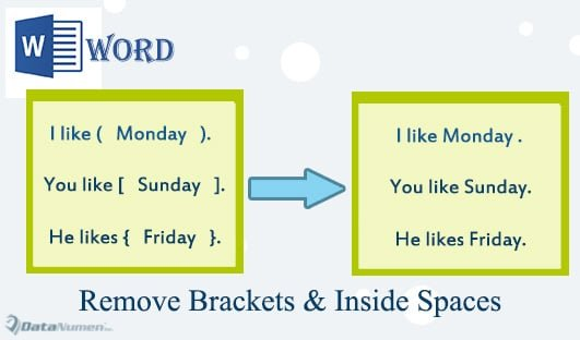 Batch Delete Brackets and Inside Spaces in Your Word Document
