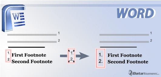 Reset Footnote or Endnote Reference Numbers to Normal Text Formatting in Note Area