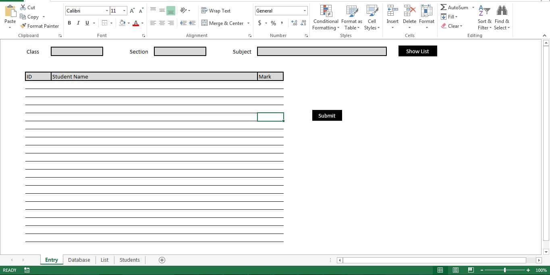 Sheet Entry