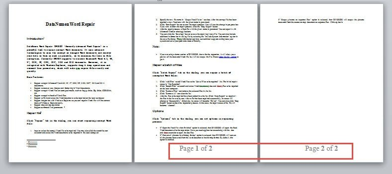 how to add page numbers to word mac