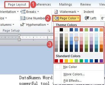 8 ways to set different background colors for header for Word change page background color