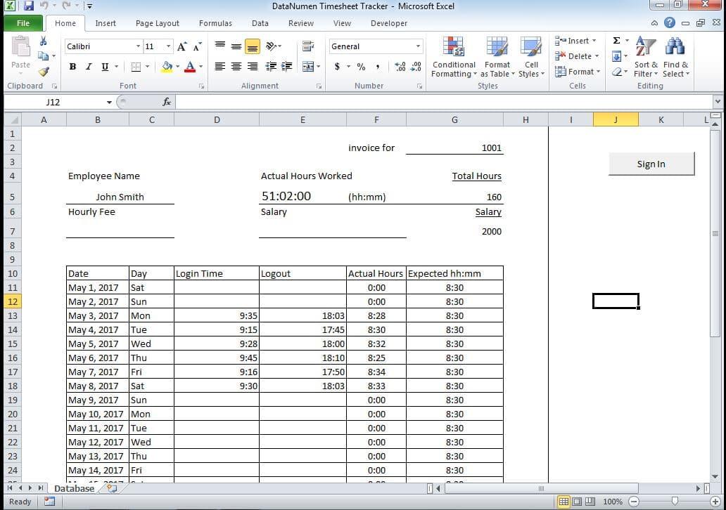 Sheet Database