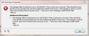 SSIS Package Failure