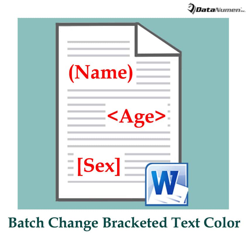 Batch Change the Color of Texts in Brackets in Your Word Document