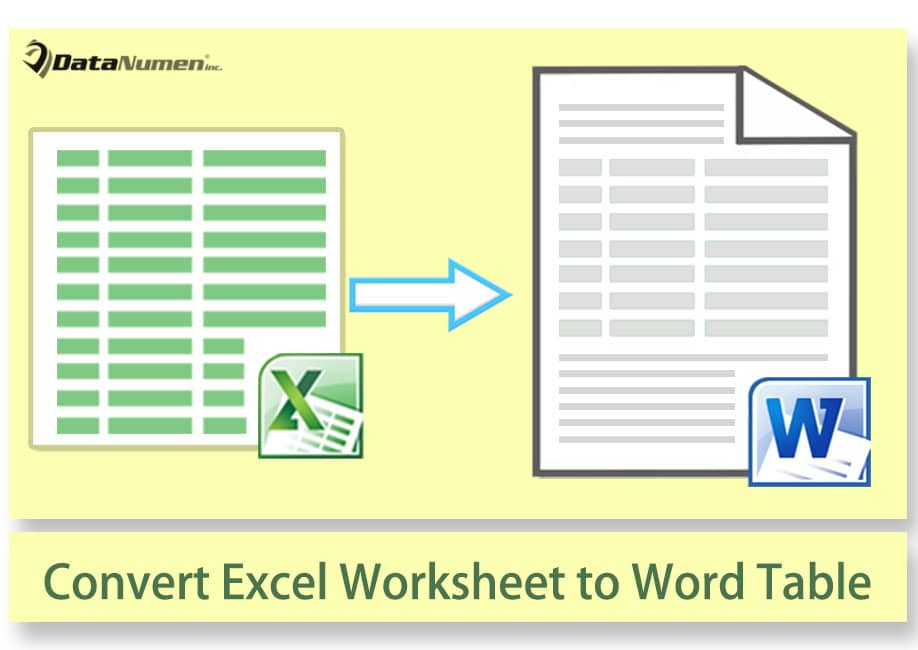how to convert excel worksheet to native word table via vba data recovery blog. Black Bedroom Furniture Sets. Home Design Ideas