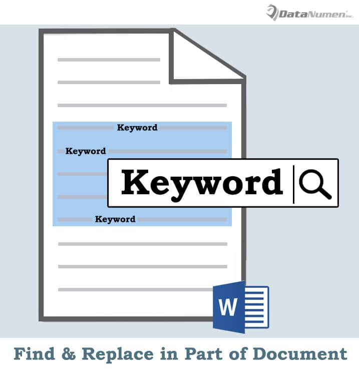 Find and Replace Text in Part of a Word Document