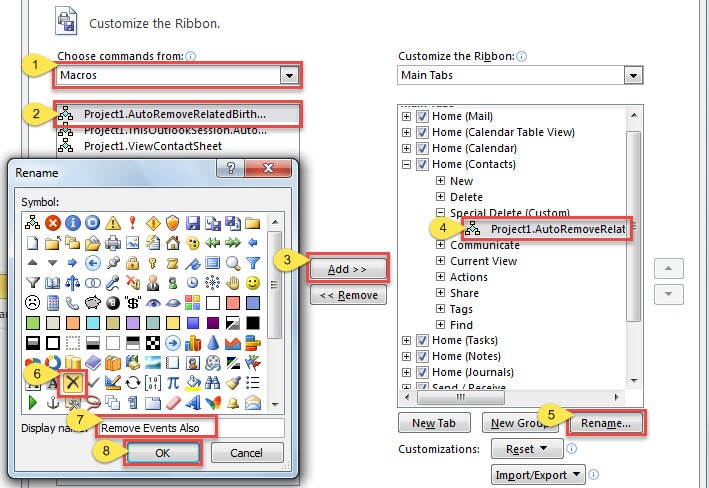 Birthday Calendar In Outlook : How to auto remove related birthday anniversary when
