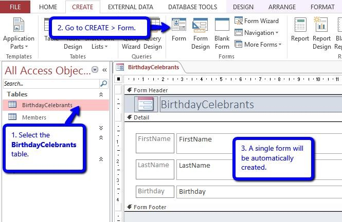 Birthday Calendar In Outlook : How to add birthday reminders in your access database