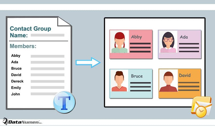 Create Contact Group from Text file