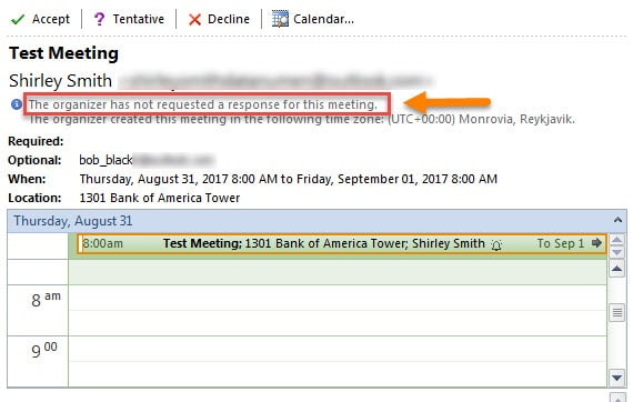 outlook meeting request no information More information on microsoft outlook calendars:  automatic meeting request  i have no idea how to delete outlook calendar appointments if they are.