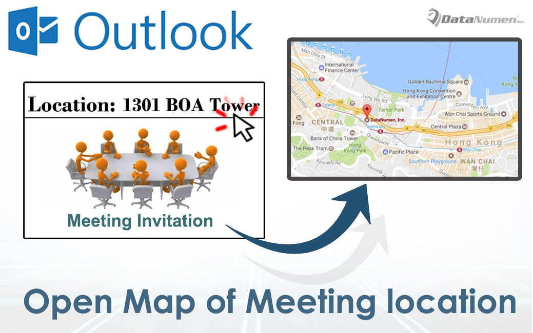 Open the Map of Meeting Location Directly in Outlook