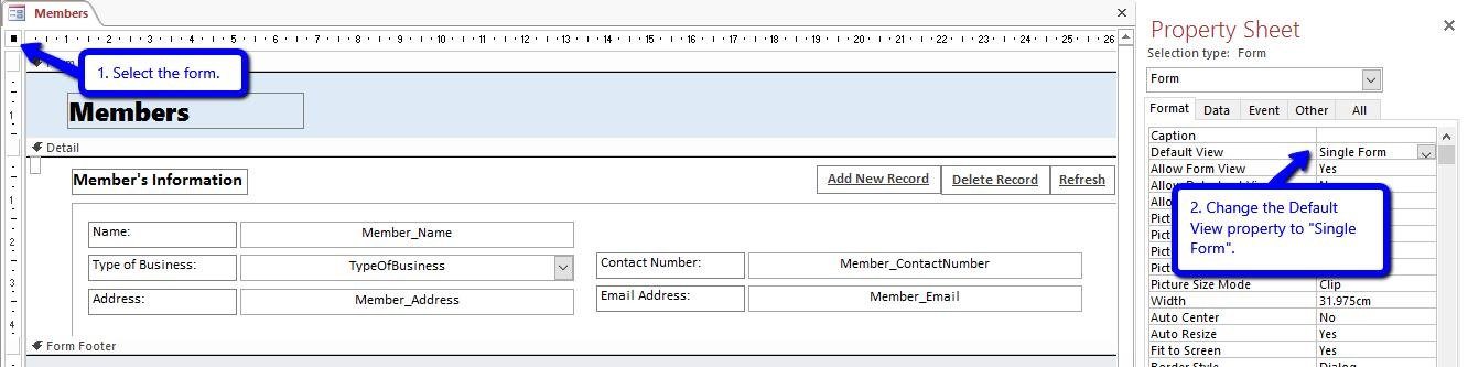 How to Create Your Own Split Form in Access using VBA - Data