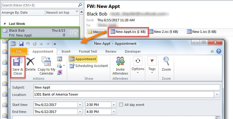 how to add an email to calendar in mac