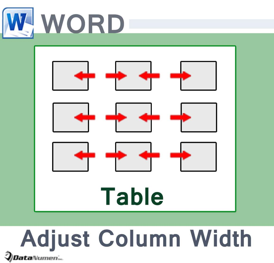 5 useful tips to adjust column width in your word table for Table column width