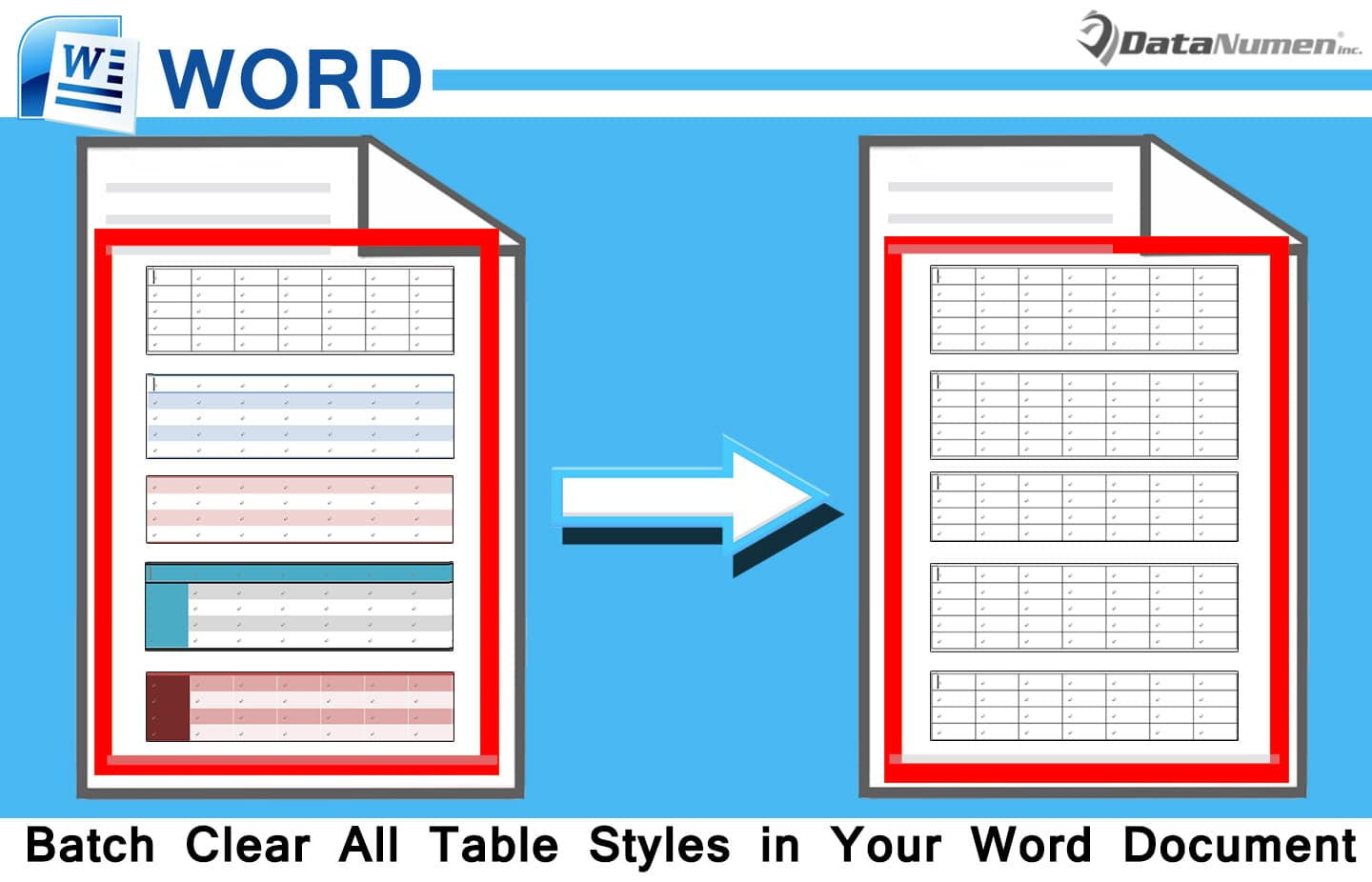Batch Clear All Table Styles in Your Word Document