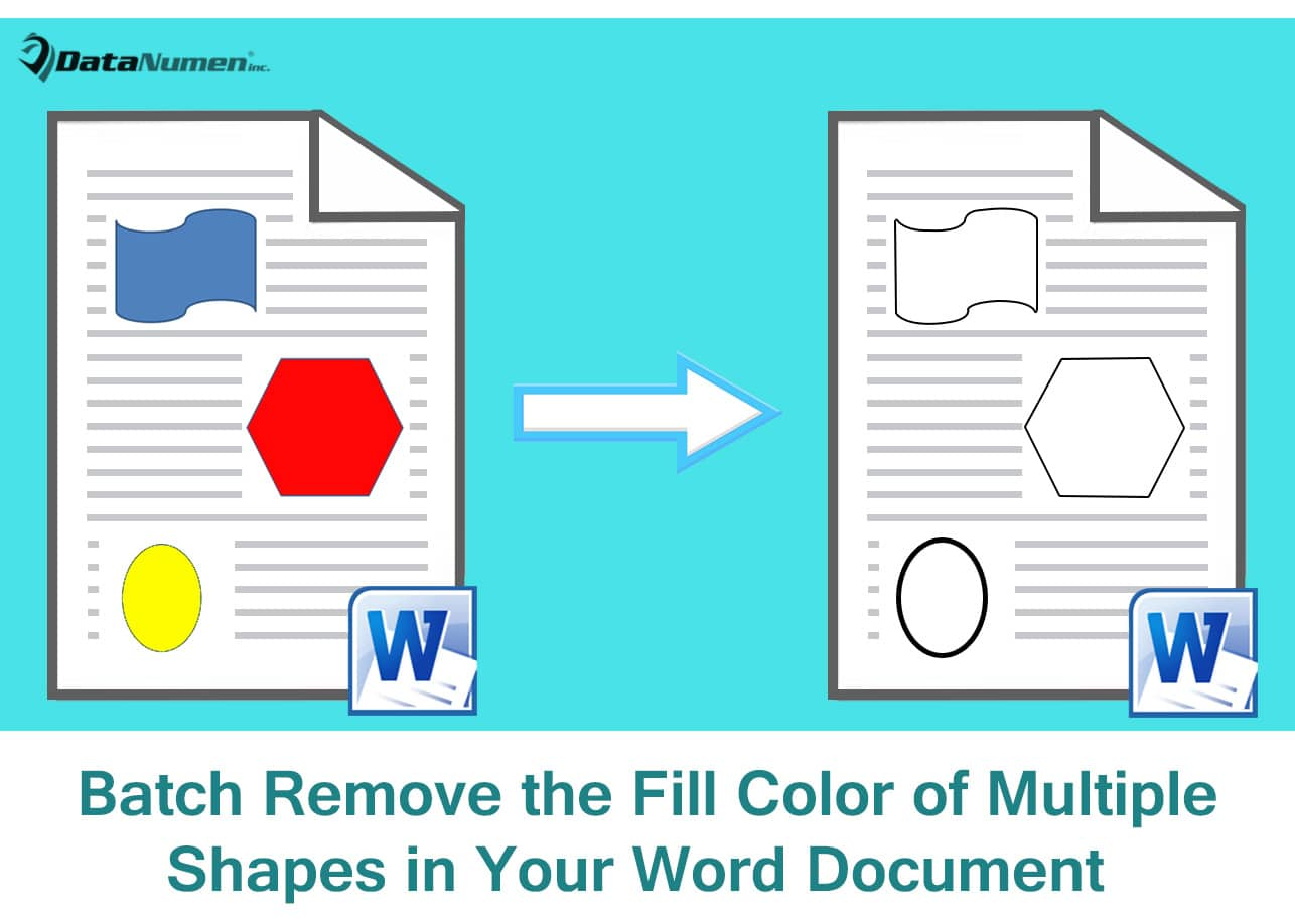Batch Remove the Fill Color of Multiple Shapes in Your Word Document