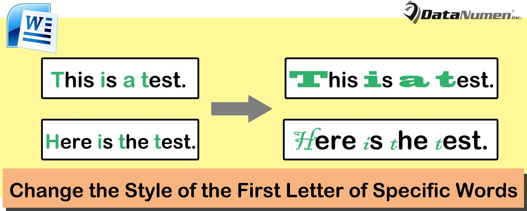 Change the Style of the First Letter of Specific Words in Your Word Document