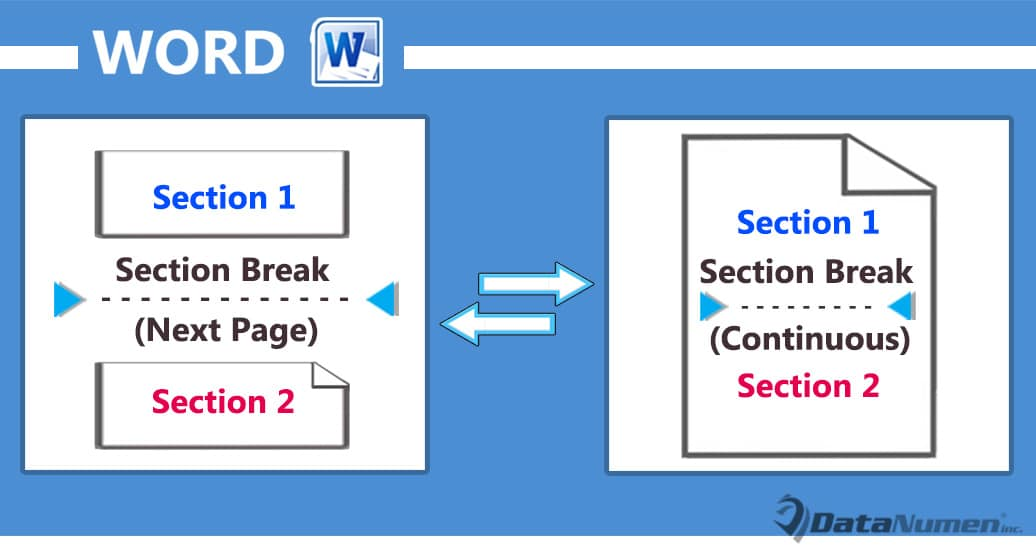 Change the Type of Section Breaks in Your Word Document