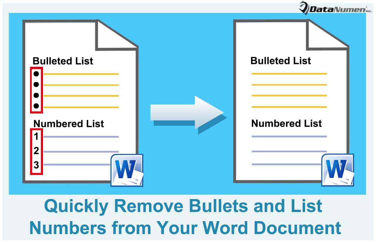 5 ways to quickly remove bullets and list numbers from your word 5 ways to quickly remove bullets and list numbers from your word document data recovery blog ccuart Image collections