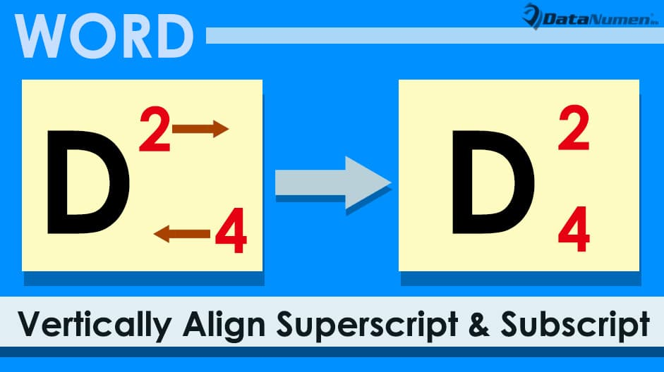 how to put superscript in word