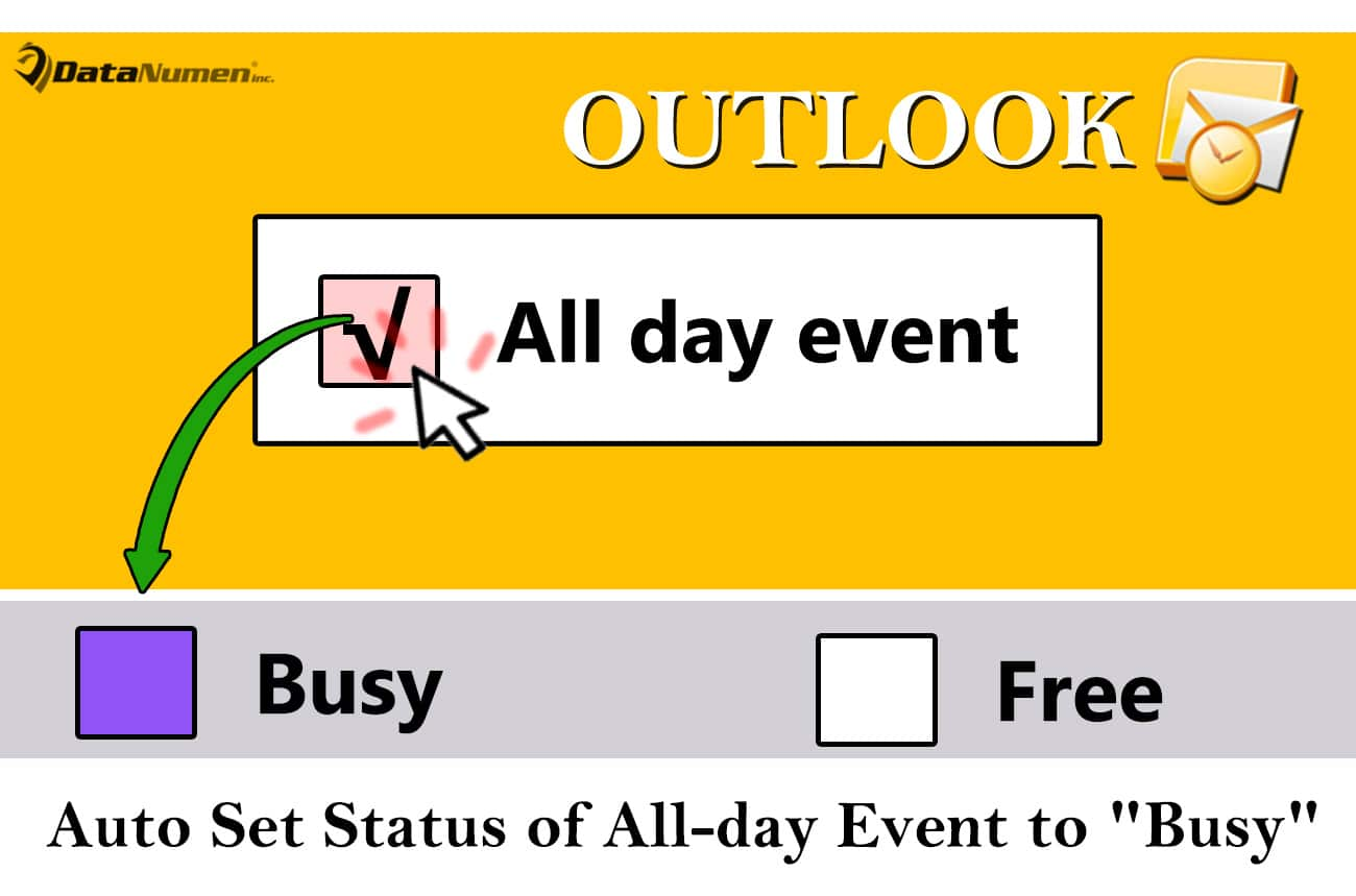 2 methods to auto set the status of all day event to  u0026quot busy