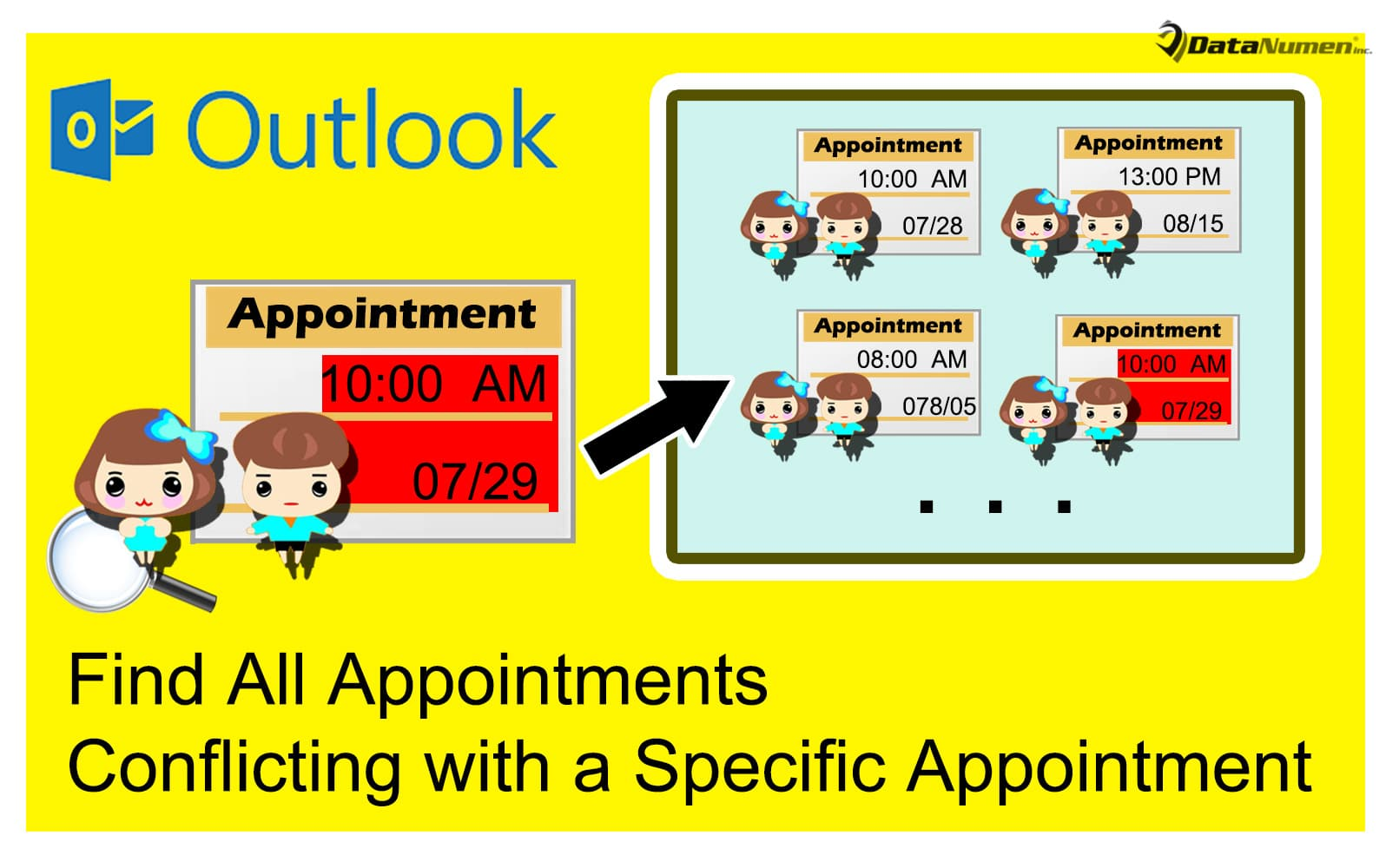Quickly Find out All Other Appointments Conflicting with a Specific Appointment in Outlook