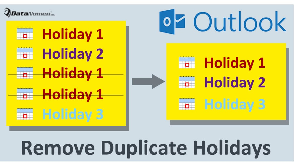 Quickly Remove Duplicate Holidays in Your Outlook Calendar