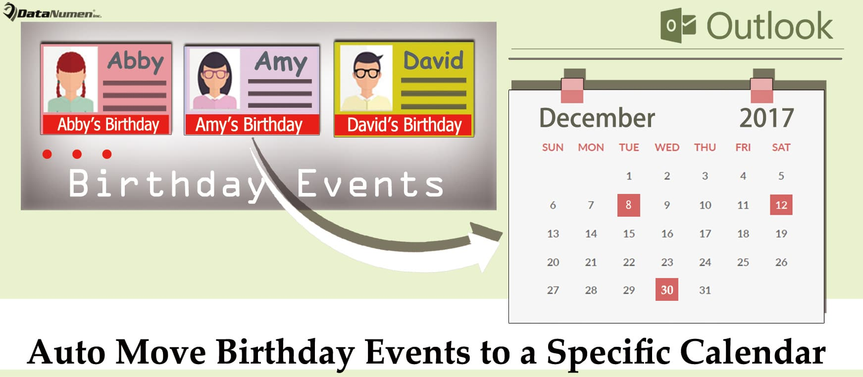 How To Auto Move Birthday Events To A Specific Calendar In Your