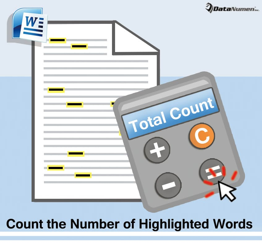 how to add the word count to a word document
