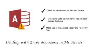 Dealing With Error 80004005 In Ms Access