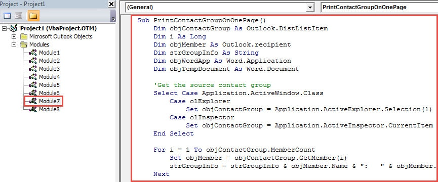 VBA Code - Print a Contact Group in Only One Page