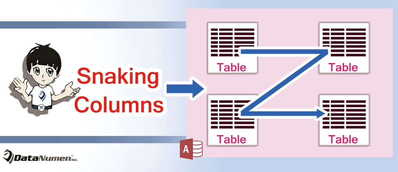 Work With Snaking Columns In Ms Access