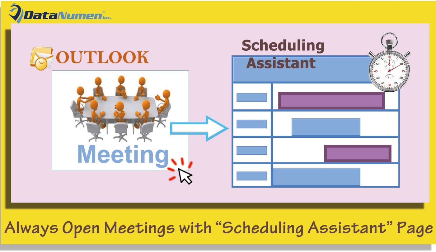 """Always Open Outlook Meetings with """"Scheduling Assistant"""" Page"""