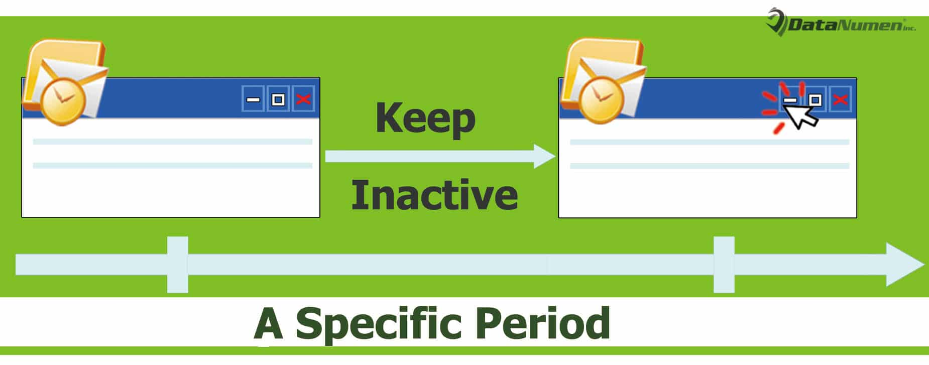Auto Minimize Outlook Window after Inactive for a Specific Period
