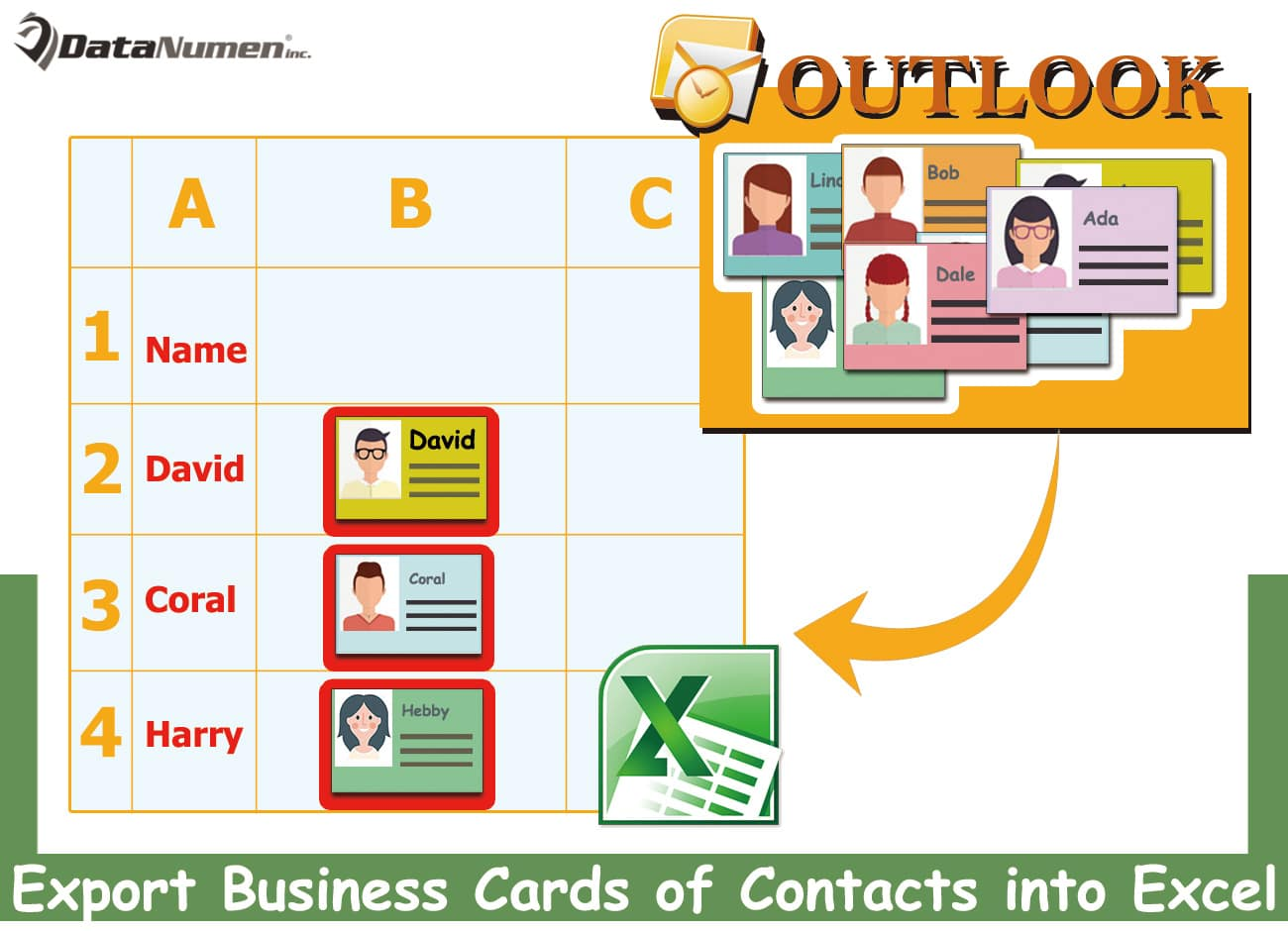 How to Quickly Export the Business Cards of Outlook Contacts into an ...
