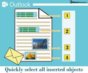 Quickly Select All the Inserted Objects in Your Outlook Email