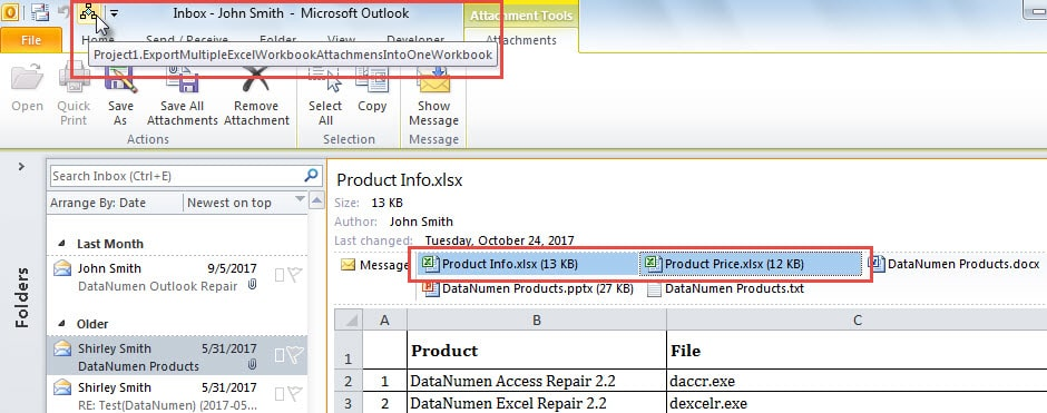how to export a excel one drive