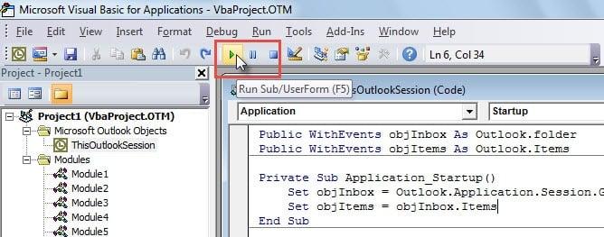Run VBA Code