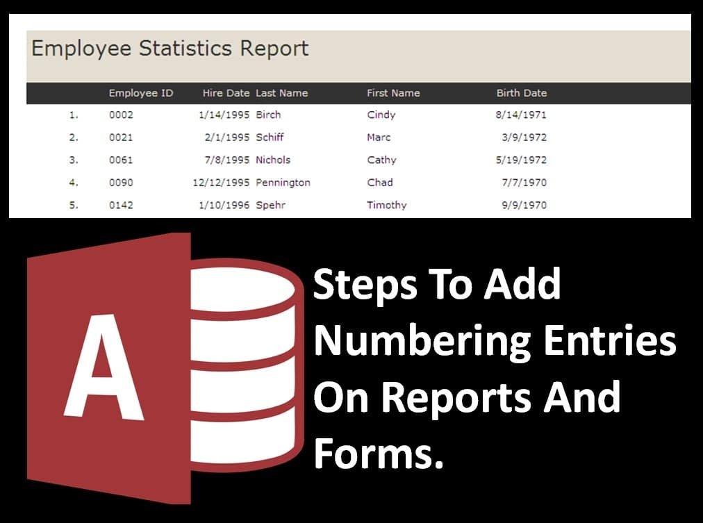 How to Number Records in Your Access Forms and Reports to